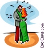 Vector Clipart illustration  of a dancing couple