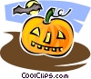 Vector Clipart image  of a Halloween pumpkin