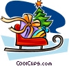 Vector Clip Art image  of a Christmas sleigh