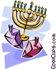 menorah Vector Clipart graphic
