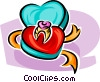 Vector Clipart illustration  of a Valentine present