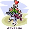 Valentine flowers Vector Clipart picture