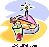 Vector Clipart picture  of a dessert