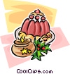 Vector Clip Art image  of a Christmas desserts