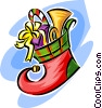 Vector Clipart illustration  of a Christmas stocking
