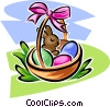 Vector Clip Art graphic  of a Easter basket