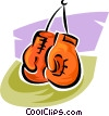 boxing gloves Vector Clipart image