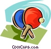 ping pong paddles Vector Clipart picture