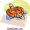 rubber dinghy Vector Clipart illustration