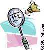 Vector Clipart image  of a Badminton racket