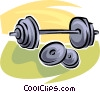 Vector Clip Art graphic  of a weights