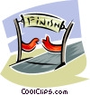 Vector Clip Art image  of a finish line