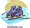 Vector Clipart picture  of a ice skates