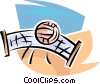 Volleyball net and ball Vector Clipart picture