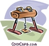 Vector Clipart picture  of a Pommel horse