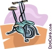 Vector Clipart illustration  of a stationary bike