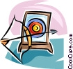 Vector Clip Art image  of an archery