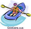 Vector Clipart graphic  of a rubber dinghy