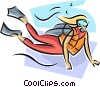 Scuba diver Vector Clipart graphic