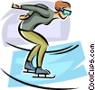 Vector Clipart illustration  of a ice skater
