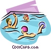 Vector Clipart image  of a water polo players