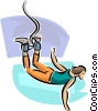 Vector Clip Art graphic  of a Bungee jumper