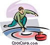 Vector Clipart graphic  of a curler