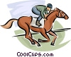 Vector Clip Art picture  of a Horse race