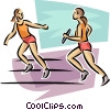 Vector Clipart image  of a relay runners