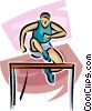 Vector Clip Art graphic  of a hurdler