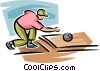 Vector Clipart picture  of a Person bowling
