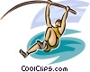 pole vaulter Vector Clip Art picture