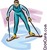 Vector Clip Art image  of a Cross country skier