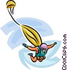 Sky diver Vector Clipart illustration