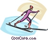 cross-country skier Vector Clip Art picture