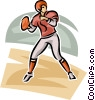 Vector Clip Art graphic  of a Football player