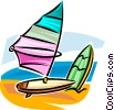 windsurfer/sailboard Vector Clip Art graphic