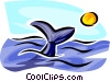 whale watching Vector Clipart illustration