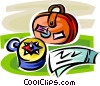 compass and luggage Vector Clipart picture
