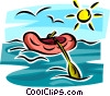 Vector Clipart graphic  of a rubber raft