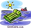 Vector Clip Art graphic  of an air mattress