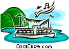 boat cruise Vector Clip Art picture