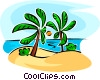 palm trees Vector Clipart picture