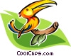 Vector Clip Art graphic  of a toucan