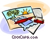 Vector Clipart graphic  of a vacation postcards