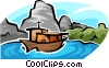 Vector Clipart illustration  of a pleasure boat