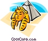 Egyptian pyramids Vector Clipart picture