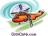 Vector Clip Art image  of a helicopter