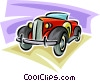 Vector Clipart picture  of a vintage automobile