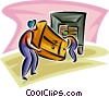 movers Vector Clip Art image